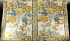 Vtg WAVERLY Upholstery Fabric Chestertown 12 Yds Yellow Blue White Birds Floral