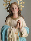 Litany of The Blessed Virgin Mary Statue 228  Glass Eye Spain Antique