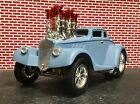 MUSCLE MACHINES Rare VHTF 33 Willys Coupe Primer Blue Build It Kit 1 18 only