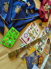 Cub Scout Shirt Scarves Pins Awards Belt loops book patches LOT