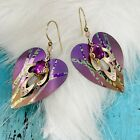 Holly Yashi Purple Heart Amethyst Pink Bohemian Glass Gold Filled Wires Signed