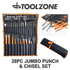 Toolzone 28pc Jumbo Punch  Chisel Tool Set Punches and Chisels PN006