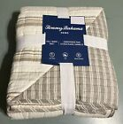Tommy Bahama Queen Quilt Tiki Bay Light Tan Stripe Reversible NEW