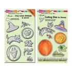 Stampendous Discontinued Cling Stamp and Die Sets Create Fall CRS5078 DCS5078