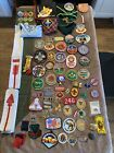 BSA Mixed Lot of Plus Boy Scout Cub Patches Pins Scarves
