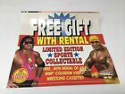 COLISEUM VIDEO WWF SPORTS COLLECTABLE PROMO ADVERTISING CARD DISPLAY RARE 1993