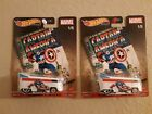 Hot Wheels CAPTAIN AMERICA Volkswagen T1 Drag Bus w Real Riders IN HAND LOT 2