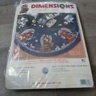 Dimensions Counted Cross Stitch Tree Skirt Christmas Angels Lion Lamb NEW