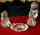 Marquis By Waterford Crystal Glass Nativity Holy Family Set Box of 3 Figurines