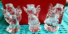 Marquis By Waterford Crystal Glass Nativity Angles Set Box of 3 Figurines