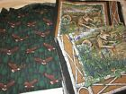 Lot 12+ yards of Wolf Panel Eagle Fabrics Hunter Green Earth Tones Quilting