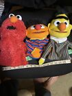 Sesame Street Bert and Ernie and ELMO hand puppets 2013 by Gund