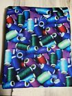 Never Used Photo Real BRIGHT THREAD Print 100 Cotton Quilt Fabric 311 Yards