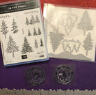 STAMPIN UP LOT IN THE PINES TREE HOLIDAY WINTER CARD CRAFT STAMPS DIES SET BONUS