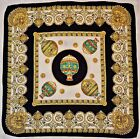 SCARF VINTAGE AUTHENTIC BAROQUE MONTGOLFIER BROTHERS AIR BALLOONS SILK 34SQUARE