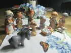 Holiday Store Childrens 15 Piece Nativity Figurines Set with Stable Creche