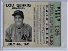 Lou Gehrig Cards, Rookie Cards, and Memorabilia Guide 22