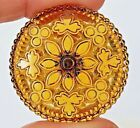 Beautiful Large Antique Amber Glass Button11 4
