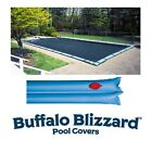 Buffalo Blizzard Rectangle Swimming Pool Winter Covers w Water Tubes 10 YR WTY