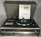 Zenith Integrated Stereo System AM FM Tuner 8Track Cassette Phonograph IS 4081