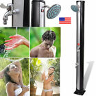 Outdoor Pool Shower Head Solar Powered Swimming Garden Hot and Cold Water 35L US