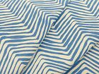 Alan Campbell Quadrille Fabric Petite Zig Zag French Blue on White 450 yds