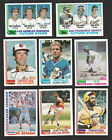 1982 TOPPS U Pick TEAM SETS SOME W TRADED Astros Dodgers Mets CUBS YANKEES +MORE