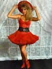 AtF Photograph Totally 1980s Lace Cute Girl Red Dress Hat Sexy Blonde Fashion