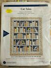 WINDHAM FABRICS CAT TALES PATTERN KIT 8096 INCLUDES FABRIC FOR TOP  BINDING