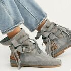 FREE PEOPLE ANKLE BOOTS 8 SUNSET VALLEY GRAY MOCCASIN KARMA OF CHARME NEW 338