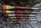 Winsor and Newton Galeria artists brushes One Stroke full set of all six brushes