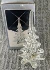 Set of 3 Vintage Crystal Glass Christmas Tree 8 Pine Hand Made in Taiwan