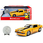 1977 Chevrolet Camaro Yellow Weathered Bumblebee with Robot on Chassis and