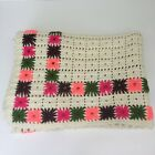 Crochet GRANNY SQUARE Afghan Blanket Throw Back 39 x 57 Inch Very Clean 70s