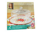 NEW In Box Pioneer Woman Winter Bouquet Cake Plate with Glass Dome