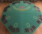 Felt Octagon Folding Poker Table Top With Cup Holder Chip Holder Carrying Case