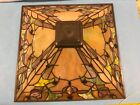 STAINED GLASS IRRIDESCENT MISSIONS LAMP SHADE 17 Diameter
