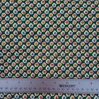 513 yd Cotton ANDOVER Fabric Sm Red Pink Yellow Blue Roses Floral Ivory Green