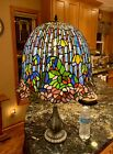 Extra Large Stained Glass Tiffany Lily Lotus Style Lamp