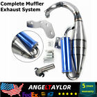 Full Exhaust System Muffler Pipe Scooter Moped Racing For Honda DIO  AF18 30