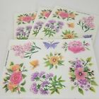 LOT of 25 Sheets of Vintage 2000 Flower Stickers Crafts Scrap Booking Decoration