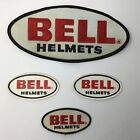 Bell Motorcycle Helmet Embroidered Sew Iron On Cloth Patch Badge set of 4