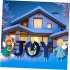 Holy Nativity Yard Sign with Stake Christmas Outdoor Lawn Decorations Joy