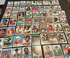 1971-1976 TOPPS FOOTBALL LOT OF 135 CARDS HOFERS STARS LEADERS ALL CARDS SCANNED