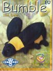 Ty S2 Beanie Card Retired BUMBLE BEE BLUE EUROPE EUROPEAN VERSION INSERT