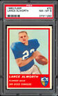 1963 Fleer #72 Lance Alworth RC PSA 8 (Rare No Stripe)