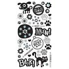 Rub Ons by Basic Grey MaxWhiskers Black Scrapbooking