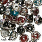 Wholesale 50 Jewel Lampwork Glass Beads w Silver Accent