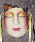 CLAY ART CERAMIC MASK..CHECKERED PAST.. EXTREMELY RARE!