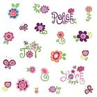 LOVE JOY PEACE 35 BiG Wall Stickers Flowers RoomDecor Decals Kids Decorations